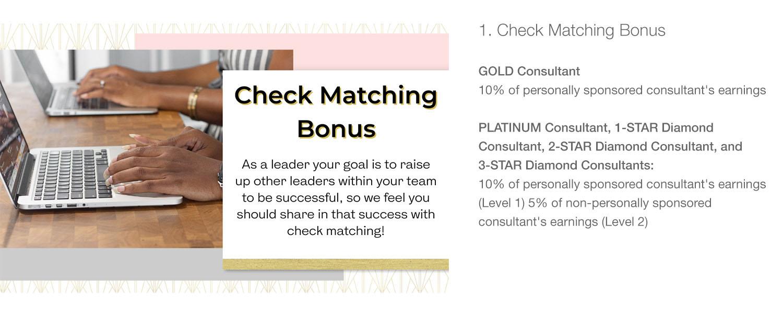 Cove Creek Check Matching Bonus